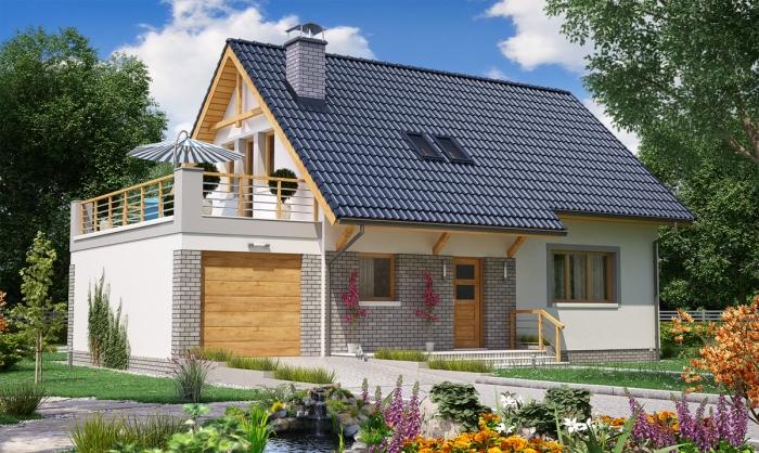 gotowe projekty dom w nowoczesnych jednorodzinnych i dwurodzinnych postaw dom. Black Bedroom Furniture Sets. Home Design Ideas